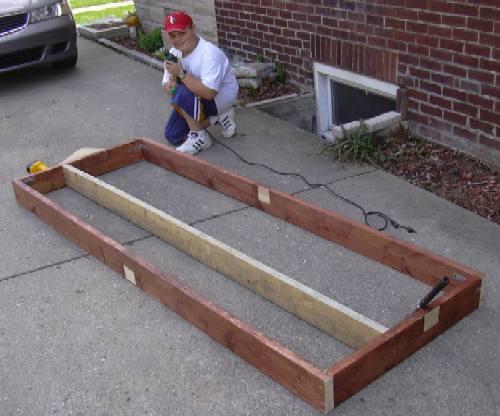 how to build wooden bleachers